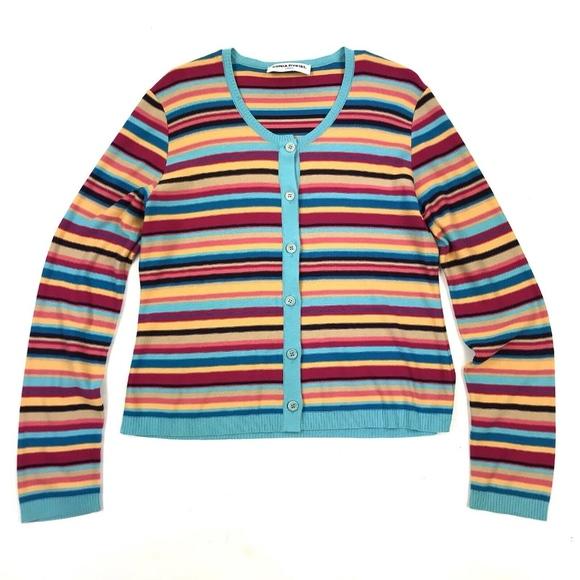 a023e68df4a171 Sonia Rykiel Sweaters | Paris Striped Cardigan 44l | Poshmark